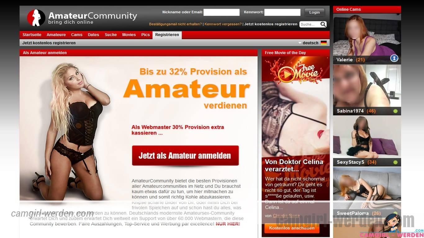 Chatterin und Amateurin auf der Amateurcommunity werden!