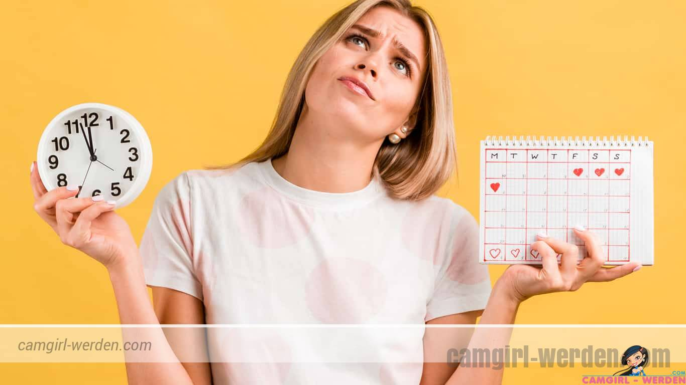Feste Onlinezeiten sind das A und O im Camgirl Job!